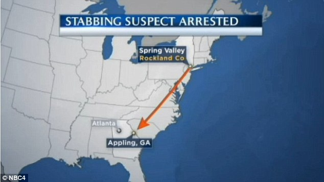 Carpio-Galicia fled 800 miles to Appling, Georgia, where he was arrested after crashing his car on a highway